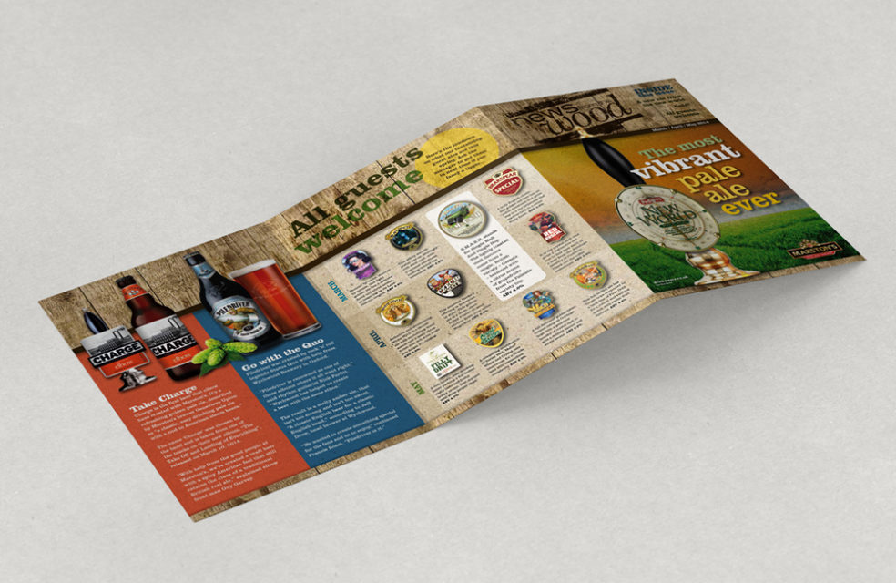 Marston's News tri-fold customer leaflet