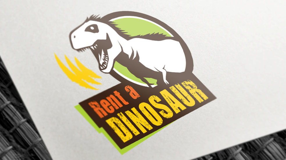 Rent a Dinosaur logo mock up