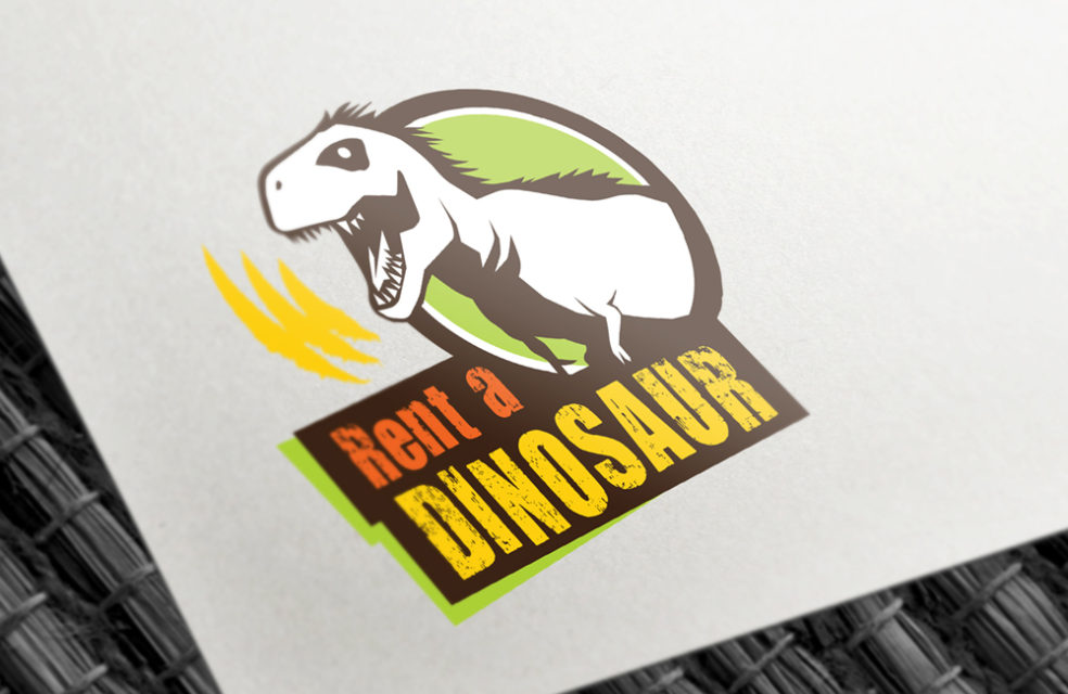 Rent a Dinosaur logo design