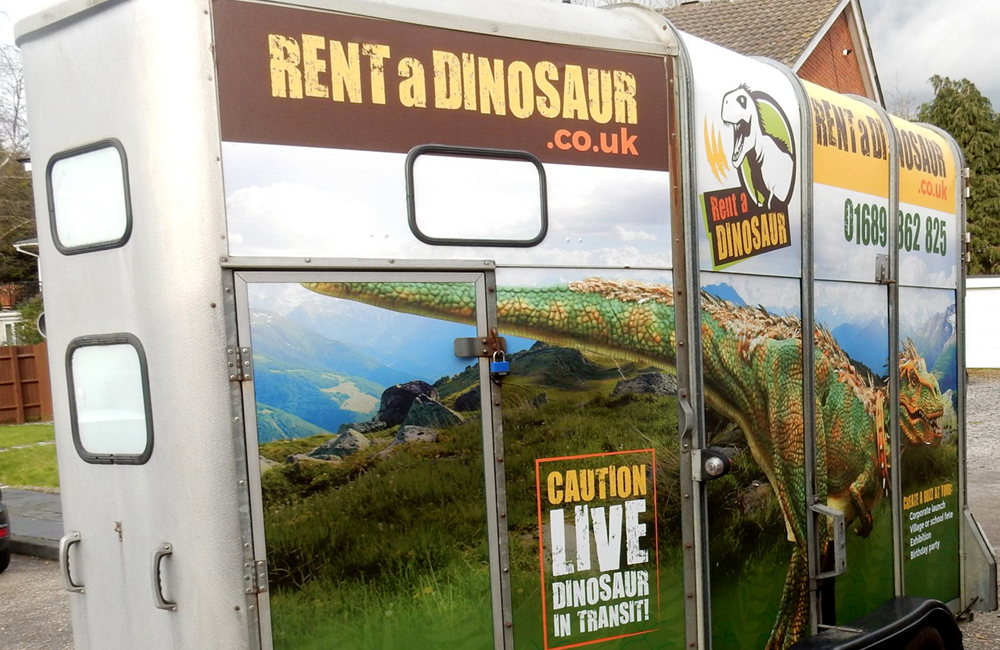 Rent a Dinosaur trailer