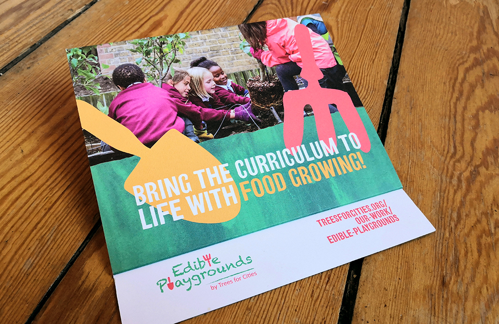 Tree for Cities: Edible Playgrounds flyer